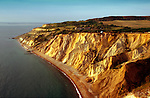 Vertical Bracklesham and Barton sands clays and lignite beds Coloured Sands Alum Bay Photographs of the Isle of Wight by photographer Patrick Eden