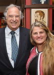 Stewart F. Lane and Bonnie Comley attend the The Robert Whitehead Award presented to Mike Isaacson at Sardi's on May 10, 2017 in New York City.
