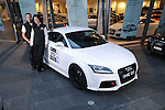 Matt &amp; Casey Close with their 2010 Targa Tasmania Entry a 2010 Audi TTRS Coupe in Ibis White .Shot on location at Audi Centre Melbourne.Melbourne CBD, Victoria.6th of April 2010.(C) Joel Strickland Photographics.Use information: This image is intended for Editorial use only (e.g. news or commentary, print or electronic). Any commercial or promotional use requires additional clearance.