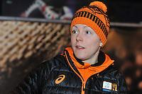 SCHAATSEN: HEERENVEEN: 29-01-14-2013, IJsstadion Thialf, Perslunch Schorttrack Olympische selectie, Jorien ter Mors, ©foto Martin de Jong