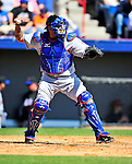 6 March 2010: New York Mets' catcher Henry Blanco in action during a Spring Training game against the Washington Nationals at Space Coast Stadium in Viera, Florida. The Mets defeated the Nationals 14-6 in Grapefruit League action. Mandatory Credit: Ed Wolfstein Photo