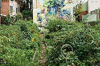 Urban community garden, Locust Street, Philadelphia, Pennsylvania, USA