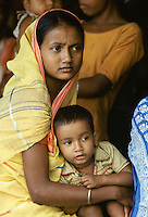 Young mother with her child in India
