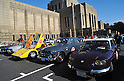 November 27, 2011, Tokyo, Japan - Classic cars are displayed in the front yard of the Meiji Memorial Picture Gallery during the fifth Classic Car Festa 2011 in Tokyo on Sunday, November 27, 2011. They are, from left: a 1977 Lamborghini Countach LP400; a 1964 Volvo 122S Amazon, and a 1967 French Panhard 24BT. .Some 43,000 spectators watch about 100 domestic and foreign classic and vintage cars parade the gingko-lined streets of the Meiji Shrines Outer Garden in the annual open-air exhibition and parade sponsored by Toyota Automobile Museum. (Photo by Natsuki Sakai/AFLO) [3615] -mis-.