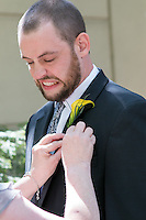 Kristen & Dan's wedding at Pittsburgh Airport Marriott in Coraopolis, PA on May 25, 2014. The wedding was in the courtyard and reception in the ballroom.
