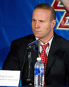 Greg Cronin (Northeastern - Head Coach) - The Northeastern University Huskies defeated the Boston College Eagles 6-1 in their opening 2009 Beanpot game at TD Banknorth Garden in Boston, MA.