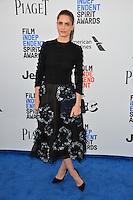 Amanda Peet at the 2017 Film Independent Spirit Awards on the beach in Santa Monica, CA, USA 25 February  2017<br /> Picture: Paul Smith/Featureflash/SilverHub 0208 004 5359 sales@silverhubmedia.com
