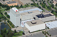 aerial view above 3M Company Center corporate headquarters of Minnesota Mining and Manufacturing corporation St. Paul Minnesota