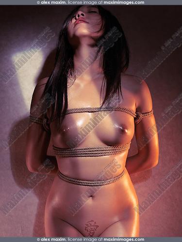 Japanese Shibari Bondage Of A Beautiful Naked Asian Woman Tied