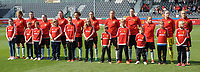 20170408 - EUPEN ,  BELGIUM : Belgian team  pictured during the female soccer game between the Belgian Red Flames and Spain , a friendly game before the European Championship in The Netherlands 2017  , Saturday 8 th April 2017 at Stadion Kehrweg  in Eupen , Belgium. PHOTO SPORTPIX.BE | DIRK VUYLSTEKE
