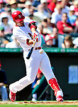 10 March 2010: St. Louis Cardinals' infielder Allen Craig in action during a Spring Training game against the Washington Nationals at Roger Dean Stadium in Jupiter, Florida. The Cardinals defeated the Nationals 6-4 in Grapefruit League action. Mandatory Credit: Ed Wolfstein Photo