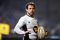Nic Groom of Northampton Saints looks on during a break in play. Aviva Premiership match, between Bath Rugby and Northampton Saints on February 10, 2017 at the Recreation Ground in Bath, England. Photo by: Patrick Khachfe / Onside Images