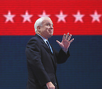 Senator John McCain, (AZ) during the Republican National Convention in New York City on Aug. 30, 2004.Sandy Schaeffer/MAI Sandy Schaeffer Photography - Washington DC Photographer<br />