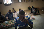 Remi OCHLIK/IP3 PRESS - On august, 25, 2011 In Tripoli - African people supposed to be Gadaffi mercenaries are detained  in the mosque of Abu Madi, in Tripoli on August 25, 2011..
