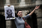 Gathering in Paris on Sept. 21st 2011 against the execution of Troy Davis