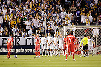 LA Galaxy players make a wall in front of Toronto FC forward Dwayne De Rosario (14). The LA Galaxy and Toronto FC played to a 0-0 draw at Home Depot Center stadium in Carson, California on Saturday May 15, 2010.  .