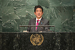 General Assembly Seventy-first session 10th plenary meeting<br /> General Debate<br /> <br /> <br /> Address by His Excellency Shinzo Abe, Prime Minister of Japan
