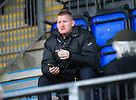 St Johnstone v Inverness Caley Thistle..29.12.12      SPL.Steve Lomas takes his place in the stands.Picture by Graeme Hart..Copyright Perthshire Picture Agency.Tel: 01738 623350  Mobile: 07990 594431