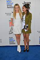 Riley Keough &amp; Sasha Lane at the 2017 Film Independent Spirit Awards on the beach in Santa Monica, CA, USA 25 February  2017<br /> Picture: Paul Smith/Featureflash/SilverHub 0208 004 5359 sales@silverhubmedia.com