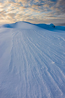 Snow drifts, Barter Island, Arctic National Wildlife Refuge, Alaska.