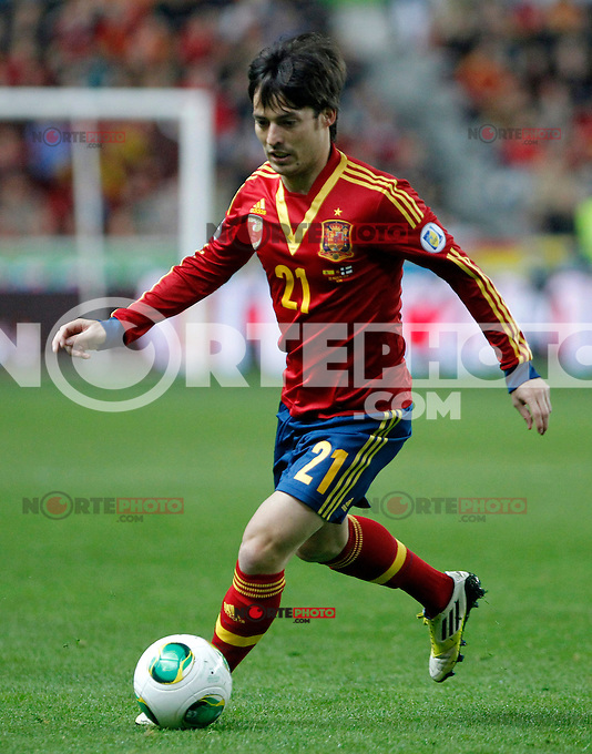 Spain's David Jimenez Silva during international match of the qualifiers for the FIFA World Cup Brazil 2014.March 22,2013.(ALTERPHOTOS/Victor Blanco)