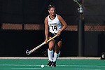 26 September 2014: California's Clara Goni (ARG). The Duke University Blue Devils hosted the University of California Bears at Jack Katz Stadium in Durham, North Carolina in a 2014 NCAA Division I Field Hockey match. Duke won the game 2-0.