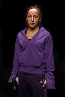 Jacksons MMA Series 7: WMMA fighter Jodie Esquibel poses for before her bout at the Hard Rock Casino in Albuquerque, NM.