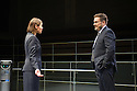 London, UK. 14.12.2015. The Young Vic, in a co-production with Supporting Wall, presents BULL in the Maria at the Young Vic. Picture shows: Susannah Fielding (Isobel), Marc Wootton (Thomas). Photograph © Jane Hobson.