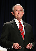 United States Senator Jeff Sessions (Republican of Alabama) listens during the National Prayer Breakfast in Washington, DC, February 2, 2012..Credit: Chris Kleponis / Pool via CNP