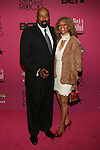 """New York Knicks Coach Woodson and Wife Terri Attend """"BLACK GIRLS ROCK!"""" Honoring legendary singer Patti Labelle (Living Legend Award), hip-hop pioneer Queen Latifah (Rock Star Award), esteemed writer and producer Mara Brock Akil (Shot Caller Award), tennis icon and entrepreneur Venus Williams (Star Power Award celebrated by Chevy), community organizer Ameena Matthews (Community Activist Award), ground-breaking ballet dancer Misty Copeland (Young, Gifted & Black Award), and children's rights activist Marian Wright Edelman (Social Humanitarian Award) Hosted By Tracee Ellis Ross and Regina King Held at NJ PAC, NJ"""