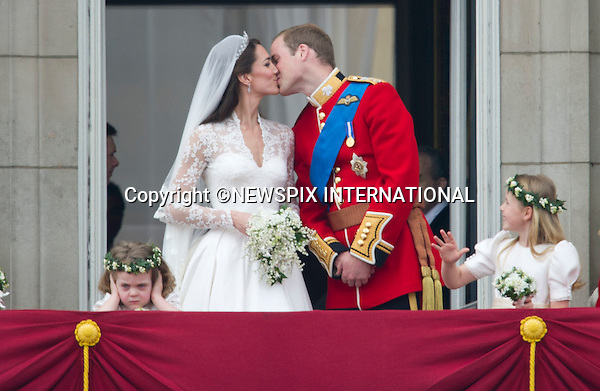 "PRINCE WILLIAM AND CATHERINE MIDDLETON .make an appearance on the balcony of Buckingham Palace, London_29/04/2011.Mandatory Photo Credit: ©Dias/Newspix International..**ALL FEES PAYABLE  TO: ""NEWSPIX INTERNATIONAL""**..PHOTO CREDIT MANDATORY!!: NEWSPIX INTERNATIONAL(Failure to credit will incur a surcharge of 100% of reproduction fees)..IMMEDIATE CONFIRMATION OF USAGE REQUIRED:.Newspix International, 31 Chinnery Hill, Bishop's Stortford, ENGLAND CM23 3PS.Tel:+441279 324672  ; Fax: +441279656877.Mobile:  0777568 1153.e-mail: info@newspixinternational.co.uk"