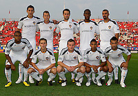 26 June 2010: The Los Angeles Galaxy Starting Eleven during a game between the Los Angeles Galaxy and the Toronto FC at BMO Field in Toronto..Final score was 0-0...