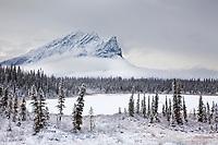 Snow covered Mt Sukakpak, Brooks range, Alaska.