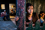 HONDURAS-10011, Young Girl, La Fortuna, Honduras, 2004.<br />