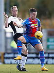 Inverness Caledonian Thistle v St Johnstone...24.10.15  SPFL  Tulloch Stadium, Inverness<br /> Miles Storey and Steven Anderson<br /> Picture by Graeme Hart.<br /> Copyright Perthshire Picture Agency<br /> Tel: 01738 623350  Mobile: 07990 594431
