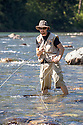 WA09128-00...WASHINGTON - Fly fishing on the Middle Fork of the Snoqualme River near North Bend. (MR# J9)