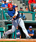 12 March 2009: Washington Nationals' infielder Brad Eldred in action during a Spring Training game against the Atlanta Braves at Disney's Wide World of Sports in Orlando, Florida. The Braves defeated the Nationals 6-2 in the Grapefruit League matchup. Mandatory Photo Credit: Ed Wolfstein Photo