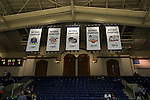 30 October 2015: The new banner for Duke's 2015 national championship hangs with the team's previous banners. The Duke University Blue Devils hosted the Florida Southern College Moccasins at Cameron Indoor Stadium in Durham, North Carolina in a 2015-16 NCAA Men's Basketball Exhibition game. Duke won the game 112-68.