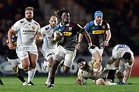 Marland Yarde of Harlequins goes on the attack. Aviva Premiership match, between Harlequins and Exeter Chiefs on April 14, 2017 at the Twickenham Stoop in London, England. Photo by: Patrick Khachfe / JMP