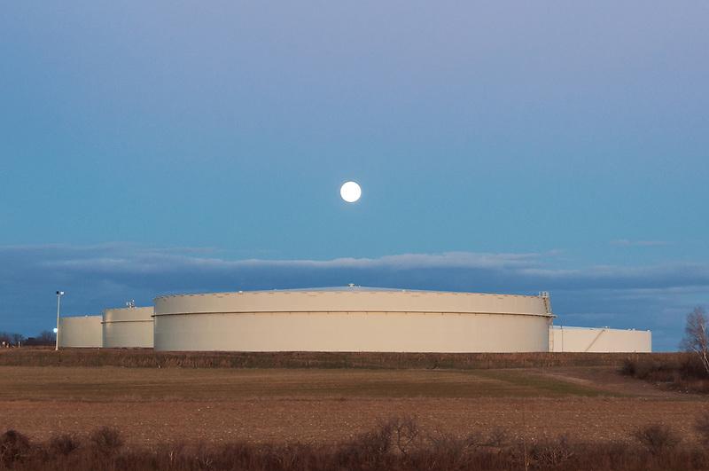 Full Moon &amp; Oil Tanks<br /> Riverhead, Long Island