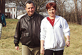 Shepherdstown, West Virginia -  January 8, 2000 --Prime Minister Ehud Barak of Israel and his wife Nava stroll in the contryside near the site of the Mideast peace talks in Shepherdstown, West Virginia on 8 January, 2000..Mandatory Credit: White House via CNP
