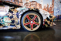 A lamborghini is exhibit at the 2015 New York International Auto Show in New York City. 04.06.2015. Kena Betancur/VIEWpress.