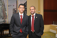 From left to right DC United midfielder Junior Carreiro  and midfielder Fred, at the 2011 Season Kick off Luncheon, at the Marriott Hotel in Washington DC, Wednesday March 16 2011.