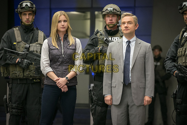 Captain America: Civil War (2016) <br /> Agent 13/Sharon Carter (Emily VanCamp) and Everett K. Ross (Martin Freeman) <br /> *Filmstill - Editorial Use Only*<br /> CAP/KFS<br /> Image supplied by Capital Pictures