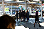 commuters iwaiting for the train Japan