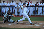 Ole Miss' Zach Kirksey (11) vs. Arkansas State in baseball action at Oxford-University Stadium in Oxford, Miss. on Tuesday, February 21, 2012. Ole Miss won the home opener 8-1 to improve to 2-1 on the season. Arkansas State dropped to 0-3.