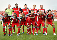 The Toronto FC starting eleven during an MLS game between the FC Dallas and the Toronto FC at BMO Field in Toronto on July 20, 2011..FC Dallas won 1-0.