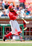 15 June 2006: Alfonso Soriano, outfielder for the Washington Nationals, at bat against the Colorado Rockies at RFK Stadium, in Washington, DC. The Rockies defeated the Nationals, 8-1 to sweep the four-game series...Mandatory Photo Credit: Ed Wolfstein Photo...