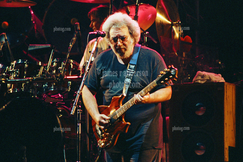 Jerry Garcia in performance with The Grateful Dead Live at The Capital Centre, Landover MD, 16 March 1990