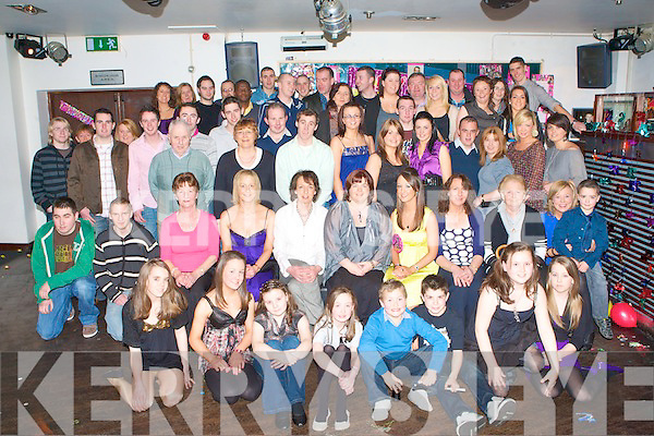 KEY TO THE DOOR: Denise Shanahan, Keilduff (seated 5th right) having a ball of a time with large group of family and friends celebrating her 21st birthday in Horan's night club on Friday.